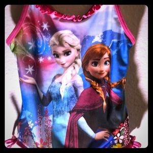 Girls Frozen one piece bathing suit